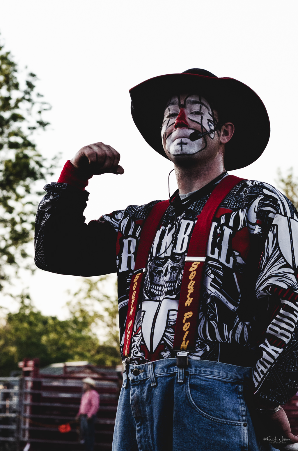 rodeo clown posing for camera
