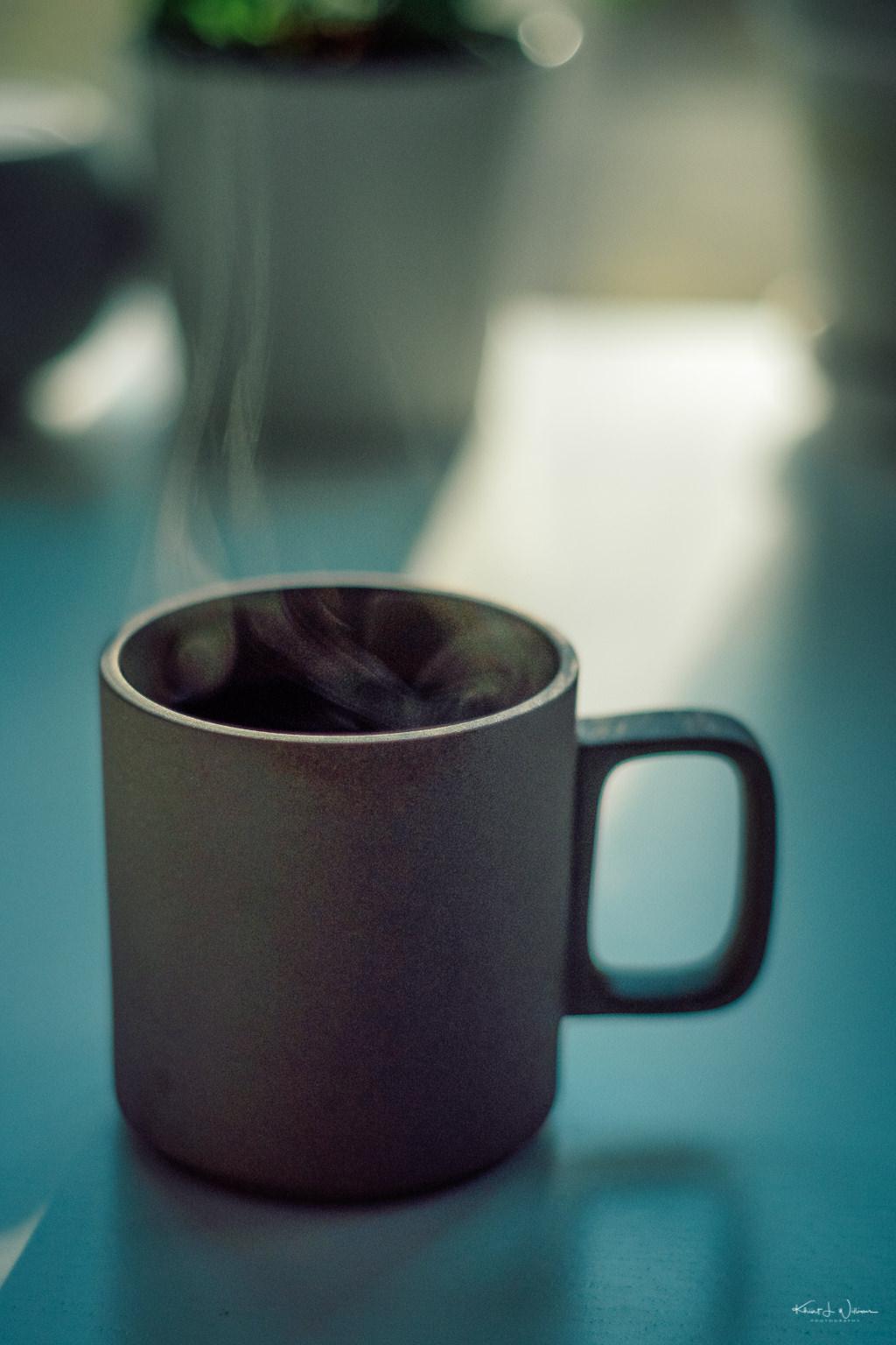 Coffee Steaming From Coffee Mug