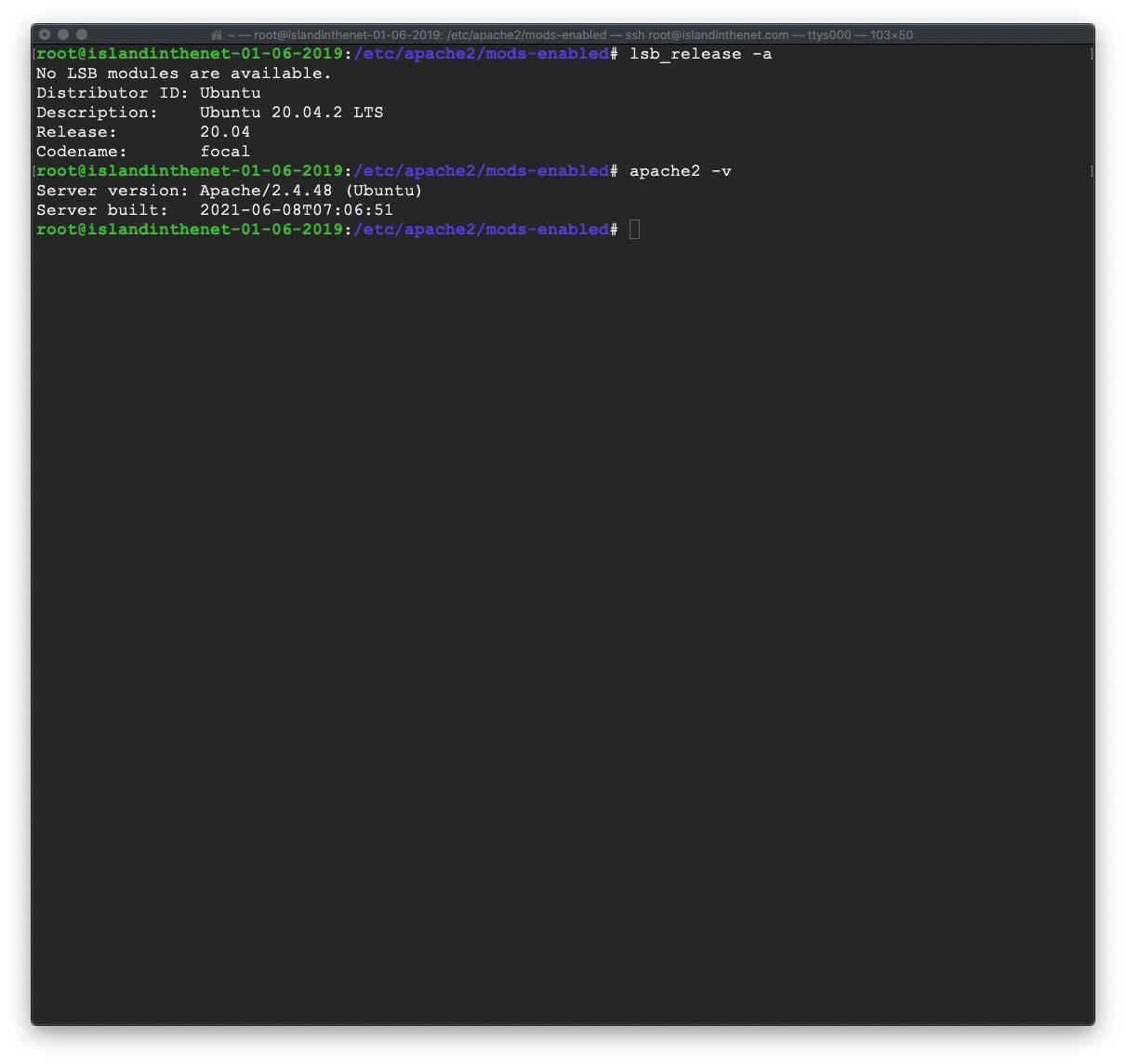 macOS screenshot of console app