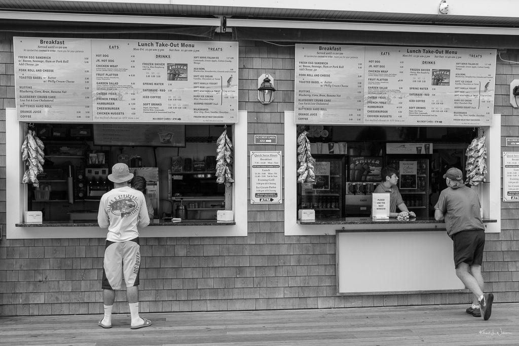 men ordering food