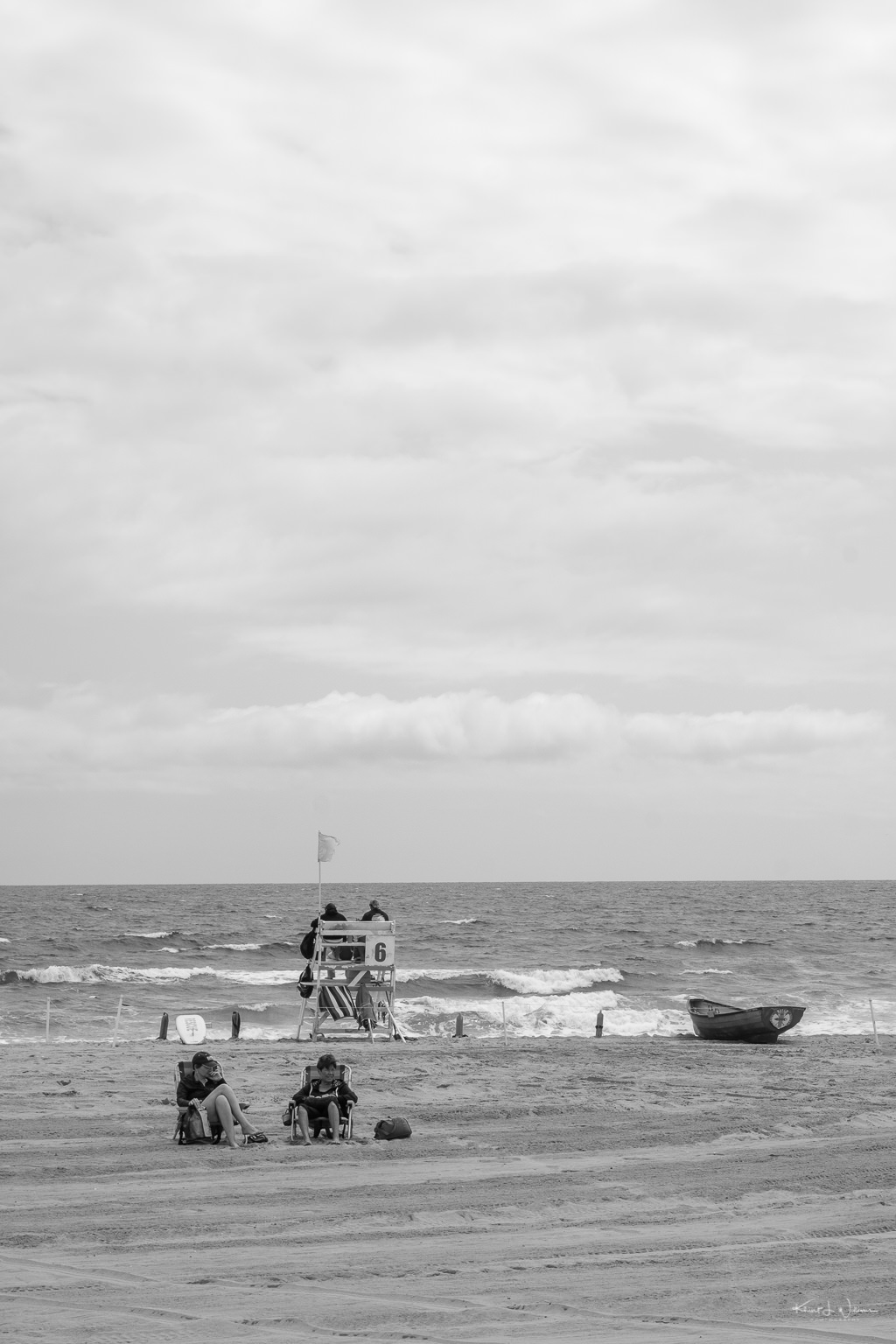 lifeguard and life boat on beach