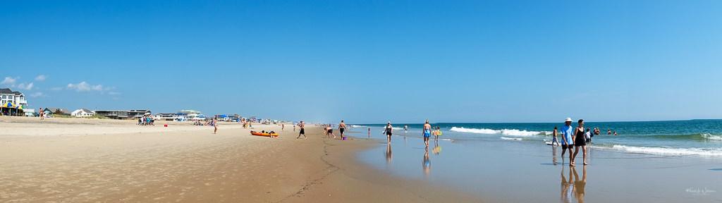 panoramic beach scene Sandbridge, Virginia Beach
